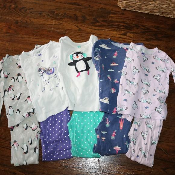 fc133766e Carter's Pajamas | 5 Size 5 Carters Girls Long Sleeve Pj Sets | Poshmark